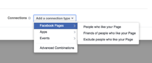 Facebook connection type