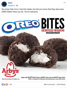 Arbys/Oreo Team up
